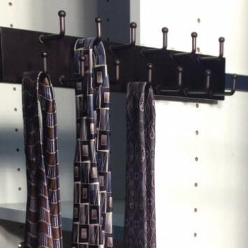 Capella Oil Rubbed Bronze Closet Tie Rack