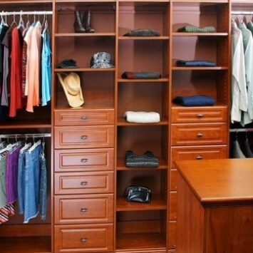 Closets to go His & Her Walk In Closet Organizer