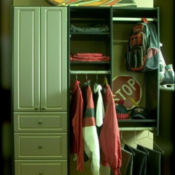Closets To Go Teen Boy Reach In Closet Organizer