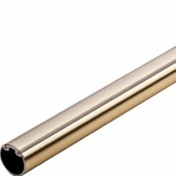Round Brass Wardrobe Tube