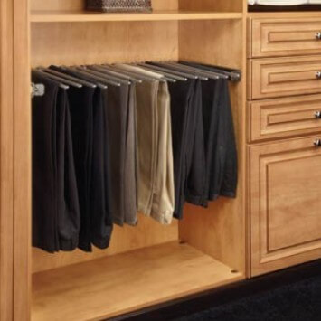 "30"" Pull Out Closet Organizer Pants Rack"
