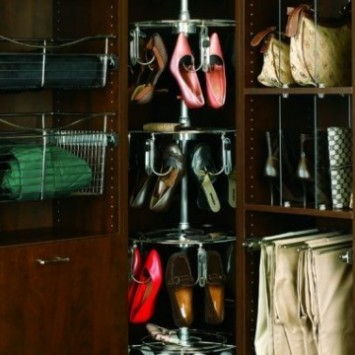 Closet Organizers Spinning Shoe Racks